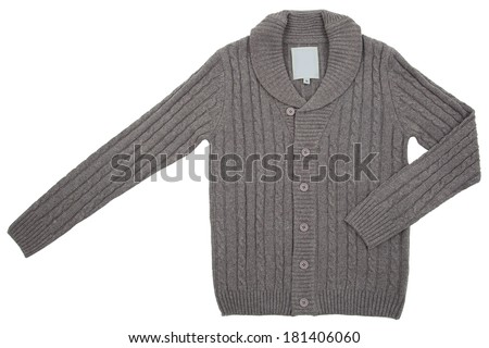 Knitted sweater isolated on a white background  - stock photo