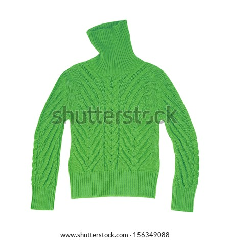 knitted sweater isolated on white background