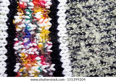 Knitted wool background color closeup - stock photo