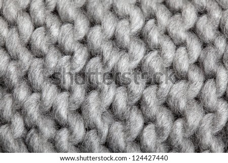 Woolen Crochet : Knitted Wool Pattern - stock photo