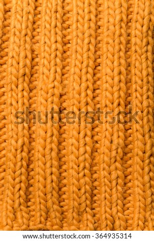 Knitted yellow texture