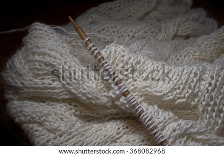 Knitting details - stock photo