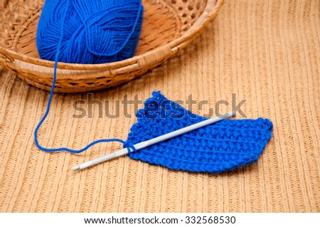 Knitting kit - stock photo