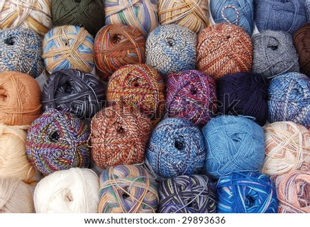 Knitting wool balls