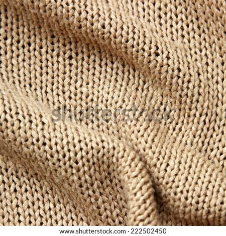 Knitwear beige texture - stock photo