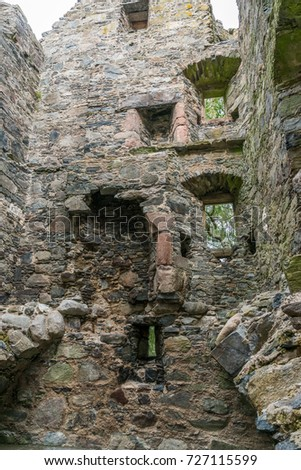 knock castle ballater aberdeenshire 14th august 2016 a shot of one of