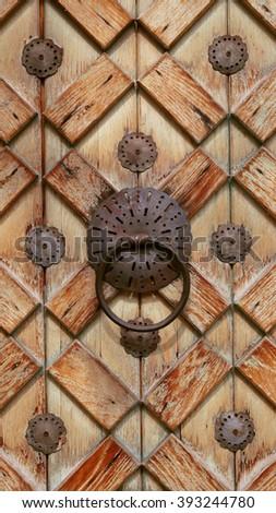 Knocker, door of Islamic architecture - stock photo