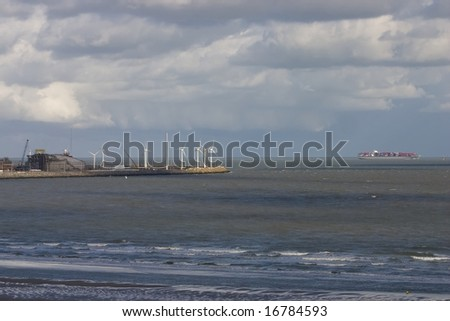 Knokke - Zeebrugge port, Belgium. - stock photo