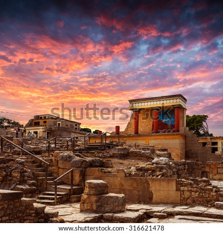 Knoss palase on the Crete,Greece - stock photo