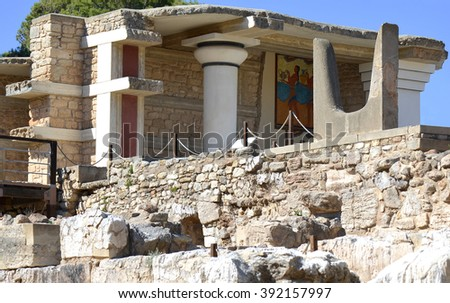 Knossos Palace in Crete, Greece