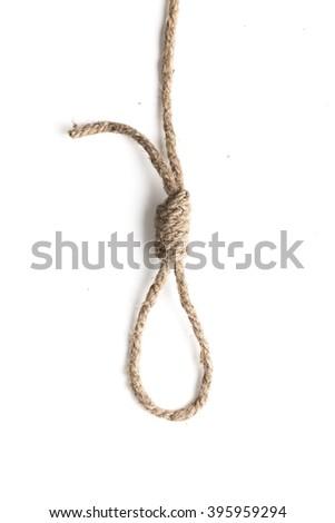 Knot of jute rope - stock photo