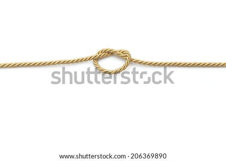 knot rope - stock photo