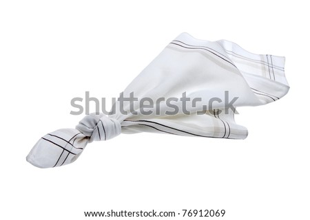 knotted handkerchief - stock photo