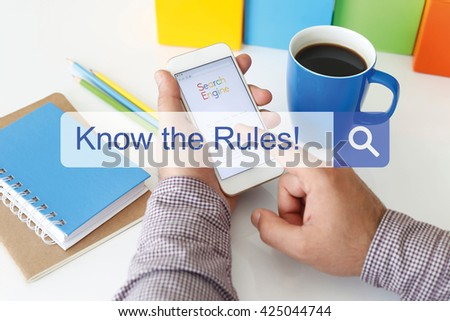 Know the Rules! - stock photo