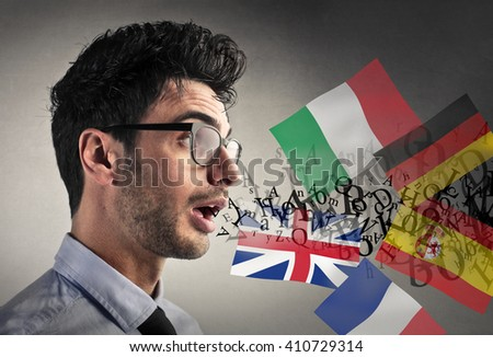 Knowing different languages - stock photo