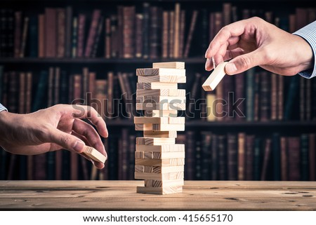 Knowledge.block game - stock photo