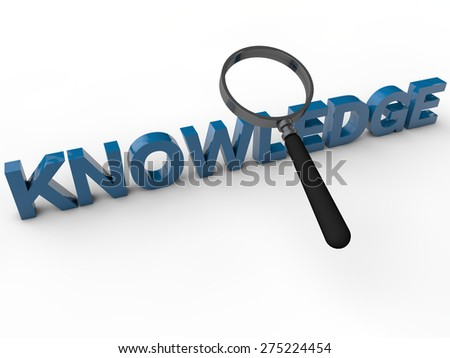 knowledge - 3d text over white background - stock photo