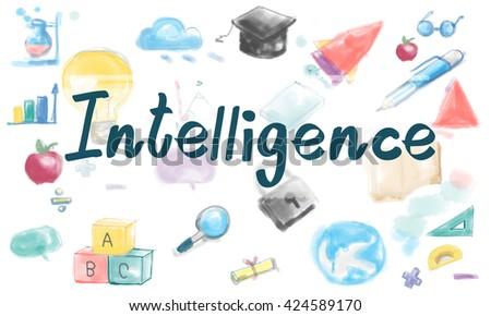 Knowledge Intelligence Wisdom Study Ideas Concept - stock photo
