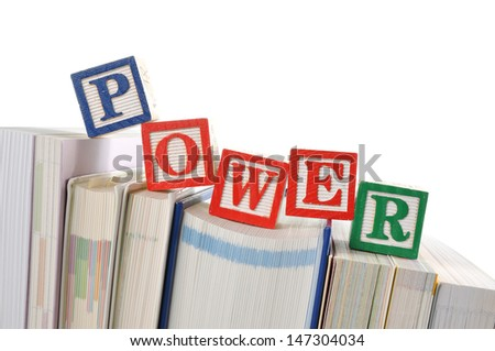 Knowledge is power - stock photo