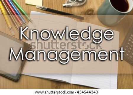 Knowledge Management - business concept with text - horizontal image