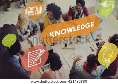 Knowledge Power Education Career Insight Concept - stock photo