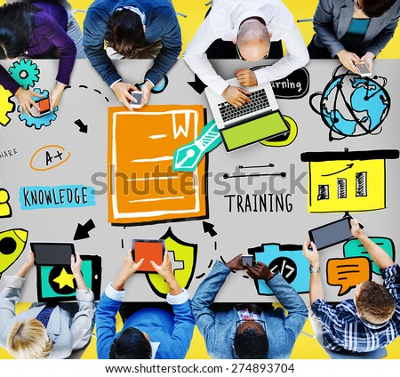 Knowledge Training E-Learning Skills Start Up Launch Concept - stock photo