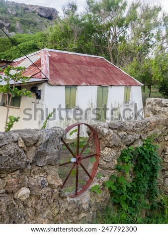 Knuku - an old slave house Curacao   in the Dutch Antilles a Caribbean Island - stock photo