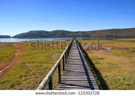 Knysna, Garden Route, Western Cape Province, South Africa. Lagoon. - stock photo