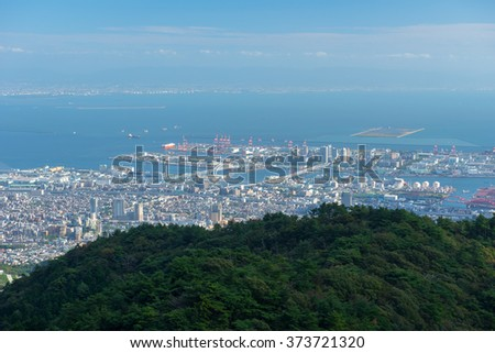 Kobe dollar view cityscape at daytime
