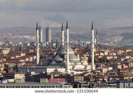 Kocatepe Mosque, Ankara,Turkey - stock photo