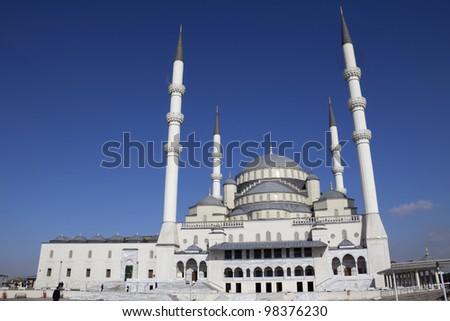 Kocatepe Mosque in Ankara, the capital city of Turkey - stock photo