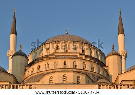Kocatepe Mosque in Ankara, Turkey - stock photo