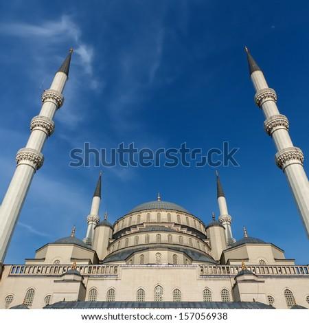 Kocatepe Mosque in Ankara Turkey - stock photo