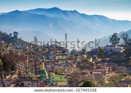 Kodaikanal upper view, Tamil Nadu, India - stock photo