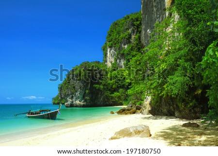 Koh Hong island bay, Andaman sea of Thailand. - stock photo
