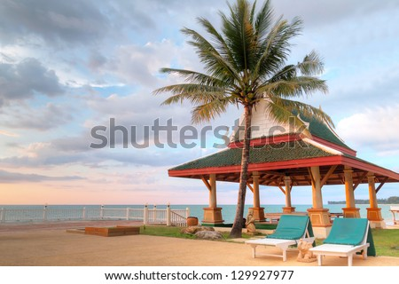 KOH KHO KHAO, THAILAND - NOV 7: Scenery of the beach at Andaman Princess Resort & SPA. Hotel was destroyed by tsunami in 2004 and rebuild, Koh Kho Khao, Phang Nga in Thailand on Nov. 7, 2012.