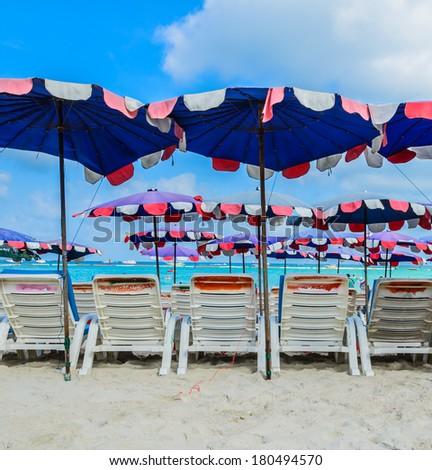 koh larn island tropical beach in pattaya city Thailand - stock photo