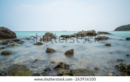 koh larn island tropical beach in pattaya city, Thailand - stock photo