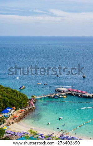 koh larn island tropical beach in pattaya city Thailand. - stock photo
