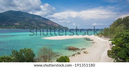 Koh Lipe Famous Island Of Thailand - stock photo