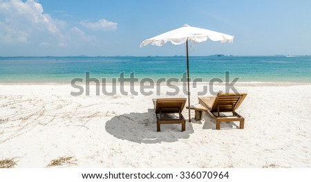 Koh Samet beach umbrella