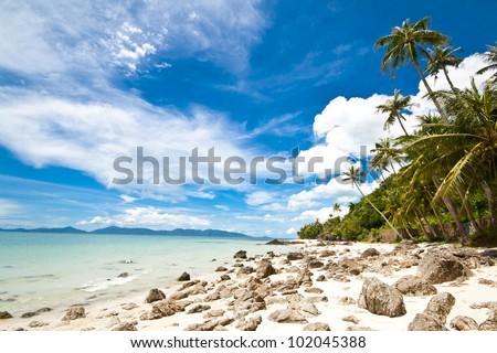 Koh Samui the famous lanmark island in Thailand - stock photo