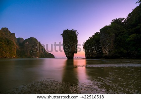 Koh Tapu, Khao Phing Kan in the pang Nga bay in Thailand - stock photo