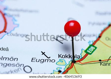 Kokkola Pinned On Map Finland Stock Photo 406453693 Shutterstock