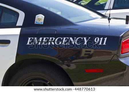 Kokomo - Circa July 2016: Police Car With Emergency 911 II