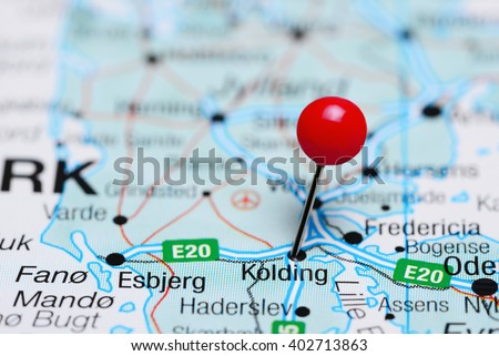Kolding Pinned On Map Denmark Stock Photo 402713863 Shutterstock