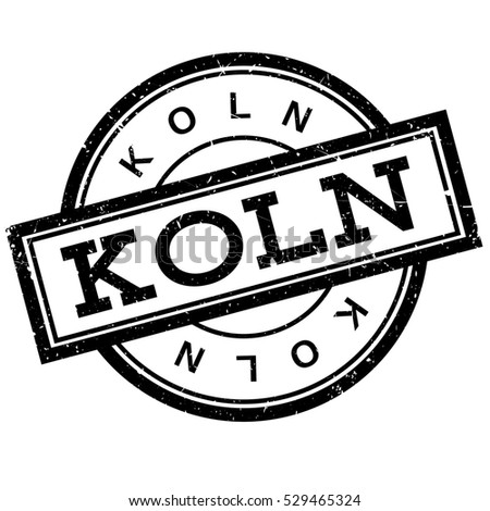 Koln rubber stamp. Grunge design with dust scratches. Effects can be easily removed for a clean, crisp look. Color is easily changed.