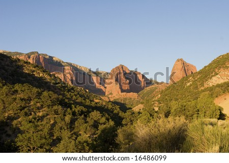 Kolob Canyon Area of Zion National Park