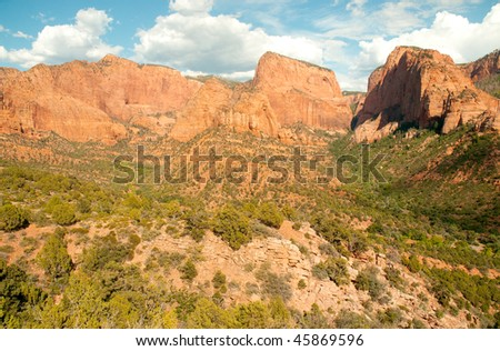 kolob canyon cliffs
