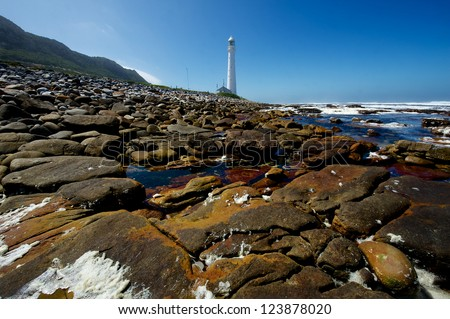 Kommetjie Lighthouse in South Africa - stock photo